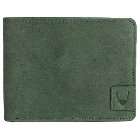 Hidesign Camel Green Leather RFID-blocking Bifold Wallet