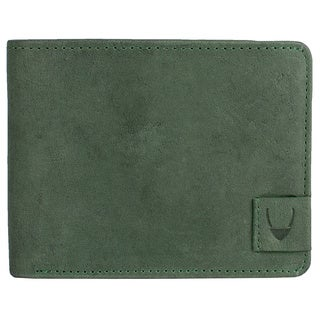 Hidesign Camel Green Leather RFID-blocking Bifold Wallet (2 options available)