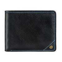 Hidesign Angle Stitch RFID Blocking Slim Bifold Leather Wallet