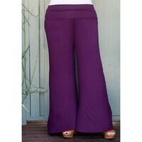 0dccda91370 Shop Women s Plus Size Mixed Leaf Pattern Pants - On Sale - Free ...