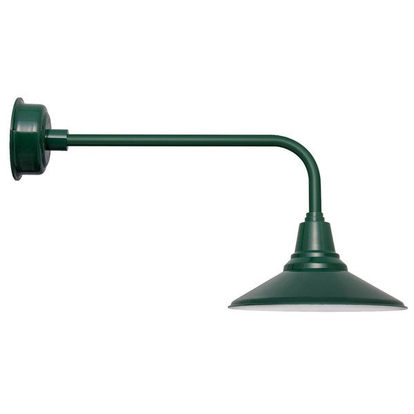 """20"""" Calla LED Barn Light with Traditional Arm in Vintage Green"""