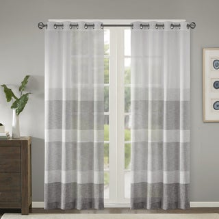 Madison Park Jasper Woven Sheer Curtain Panel