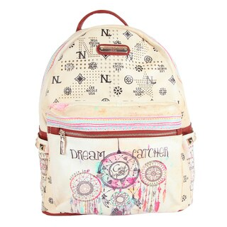 Nicole Lee Quinn 20-inch Spacious Eco-Leather Fashion Backpack