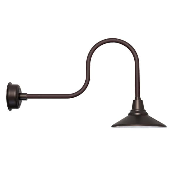 "18"" Calla LED Barn Light with Industrial Arm in Mahogany Bronze"
