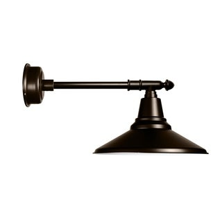 "18"" Calla LED Barn Light with Victorian Arm in Mahogany Bronze"