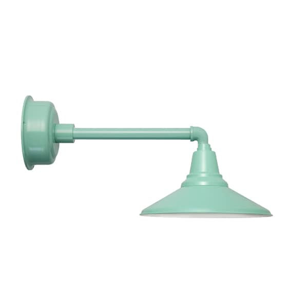 "18"" Calla LED Barn Light with Metropolitan Arm in Vintage Green"