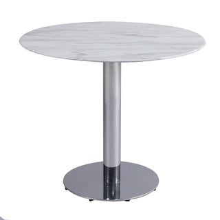 Christopher Knight Home Naomi White Marble and Stainless Steel Bistro Dining Table