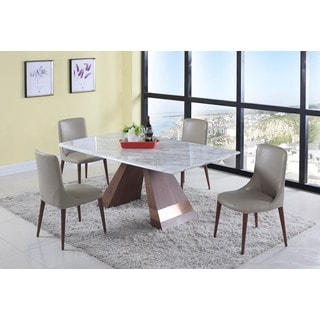 Christopher Knight Home Stella 5-Piece Dining Set with Beige Chairs