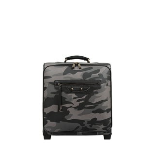 Mellow World Brandy Camouflage Synthetic-leather 15-inch Carry-on Rolling 13-inch Laptop Suitcase
