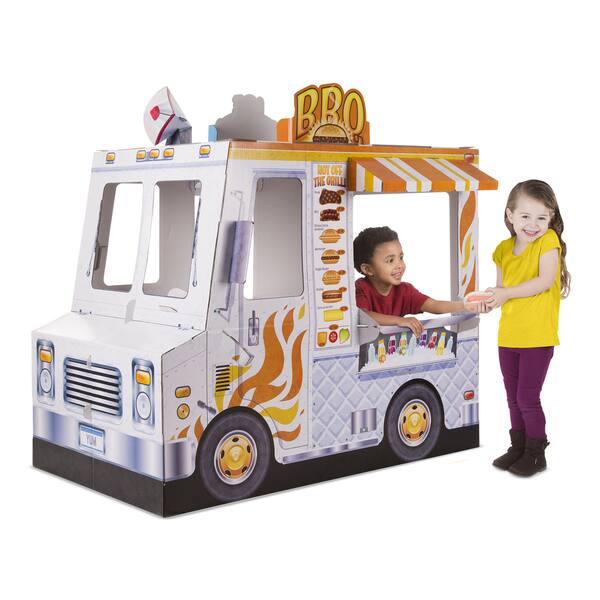 Shop Melissa Doug Food Truck Indoor Playhouse Free