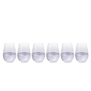 """Vitorrio"" Wine Glass, Stemless Silver (Set of 6)"