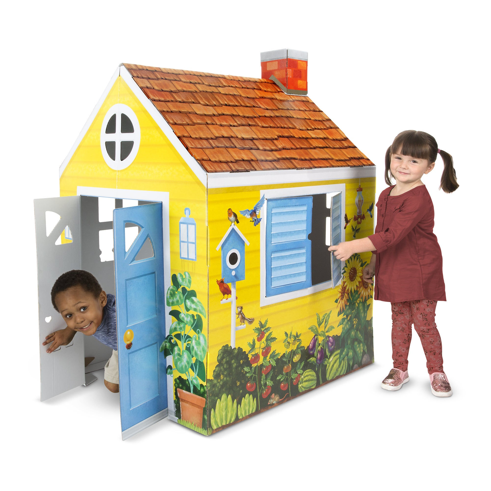 Melissa Doug Cottage Cardboard Structure