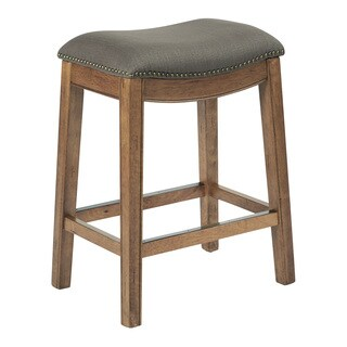 Ave Six 26 inch Austin Counterstool with Antique Bronze Nailheads