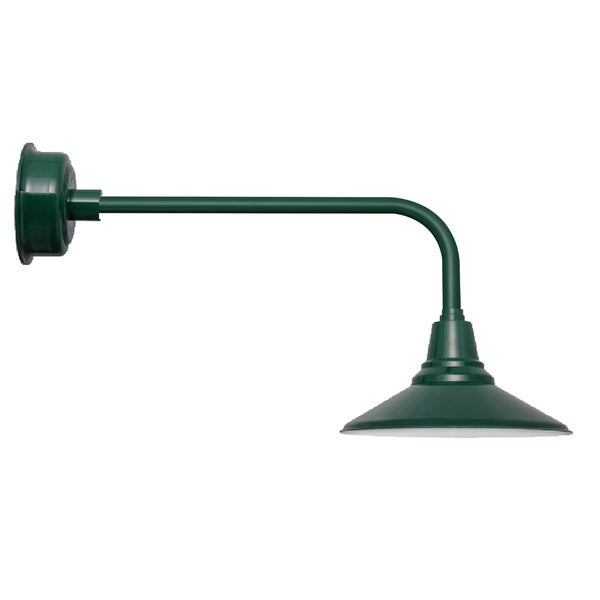 "16"" Calla LED Barn Light with Traditional Arm in Vintage Green"