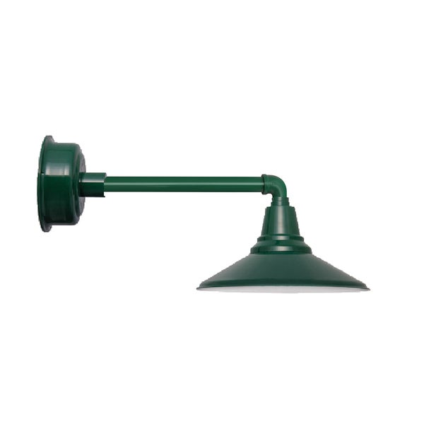 "16"" Calla LED Barn Light with Metropolitan Arm in Vintage Green"