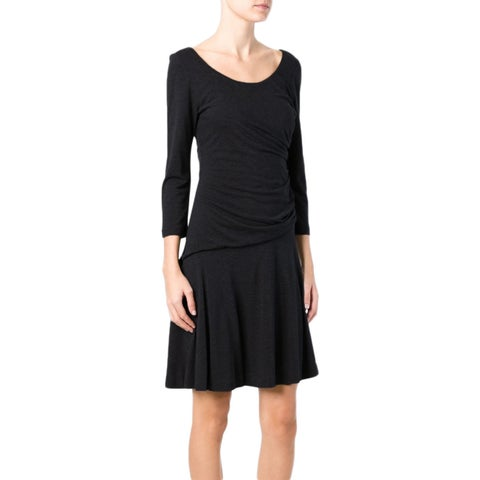 Diane von Furstenberg Nerissa Black Ruched Size 2 Dress