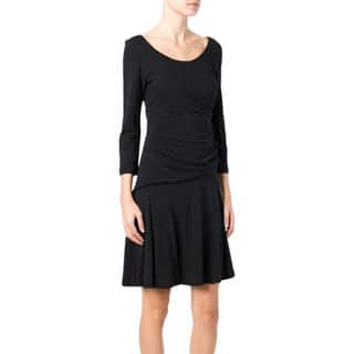 Diane von Furstenberg Nerissa Black Ruched Size 2 Dress|https://ak1.ostkcdn.com/images/products/16654392/P22976541.jpg?impolicy=medium