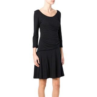 Diane von Furstenberg Nerissa Black Ruched Size 2 Dress