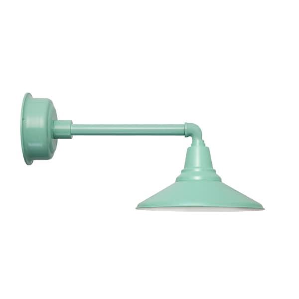 "16"" Calla LED Barn Light with Metropolitan Arm in Jade"