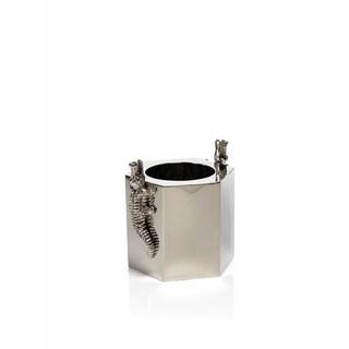 """Crocodile"" 7"" Tall Stainless Steel and Aluminum Ice Bucket / Wine Cooler"