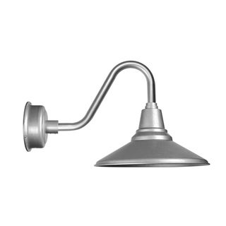 """14"""" Calla LED Barn Light with Vintage Arm in Galvanized Silver"""