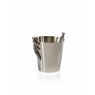 """Crocodile"" 8"" Tall Stainless Steel and Aluminum Ice Bucket / Wine Cooler"