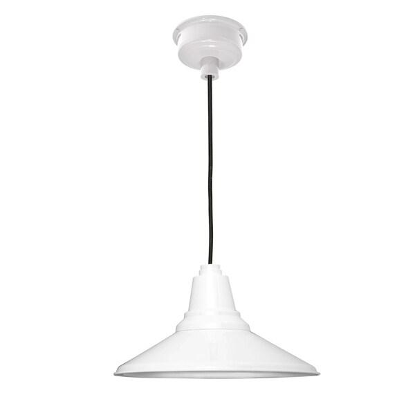 "18"" Calla LED Pendant Light in White"