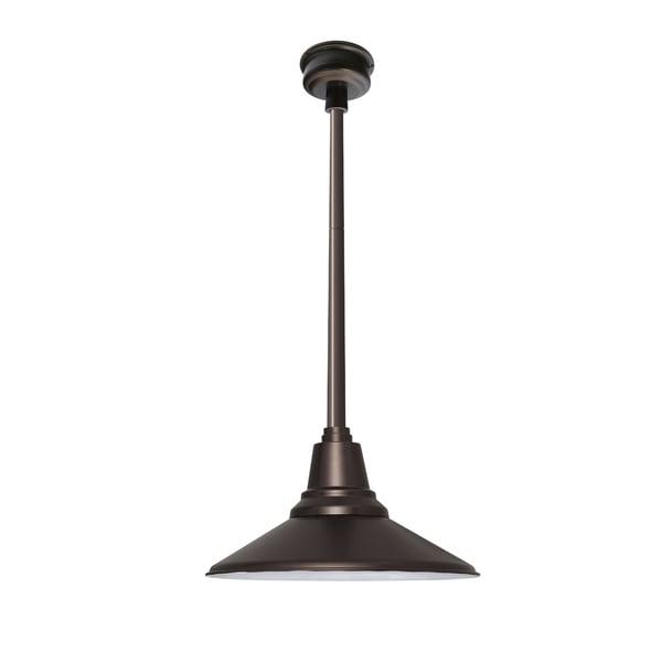 Calla Mahogany Bronze with Mahogany Bronze Downrod 18-inch LED Pendant Light