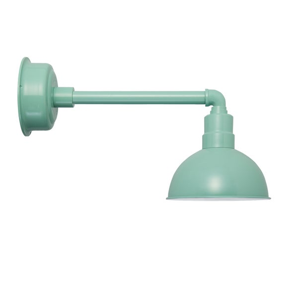 "8"" Blackspot LED Barn Light with Metropolitan Arm in Jade"