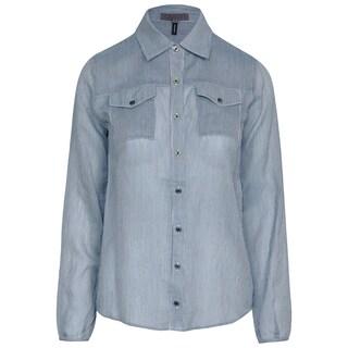 Quinn Qi Marmara Cotton Striped Button-down Blouse