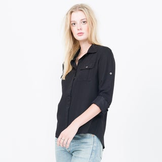 Qi Long Sleeve Button Up