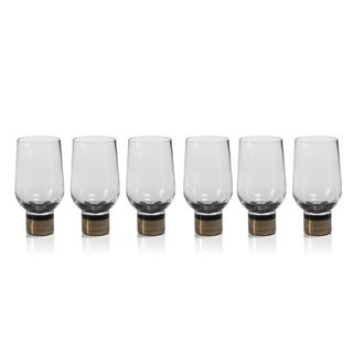 """Galiotto"" Bar Glass, Gold Accent (Set of 6)"