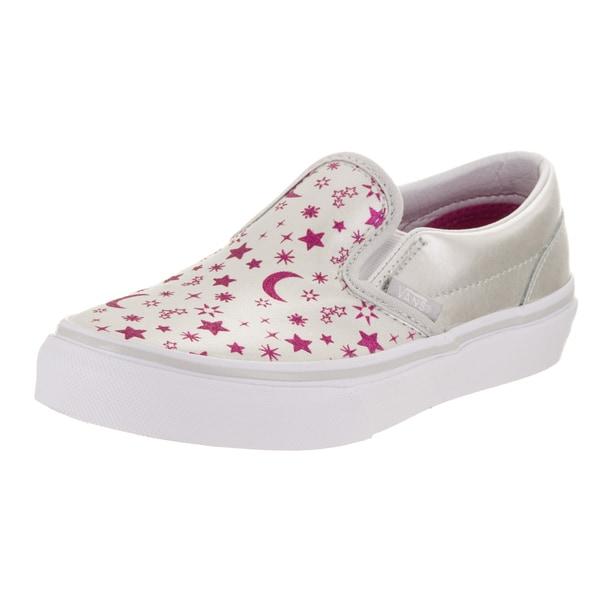 5171994c7c Shop Vans Kids Classic Slip-On (Star Glitter) Skate Shoe - Free ...
