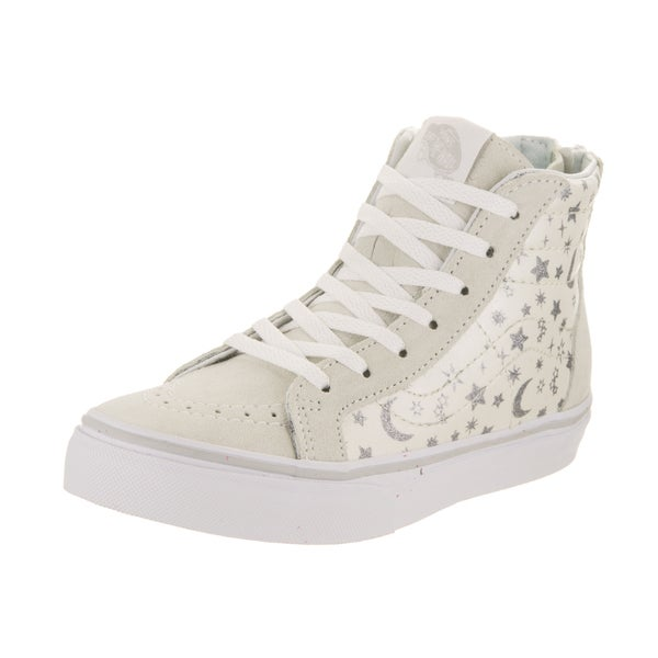aa4febb2bb0 Shop Vans Kids Sk8-Hi Zip (Star Glitter) Skate Shoe - Free Shipping ...