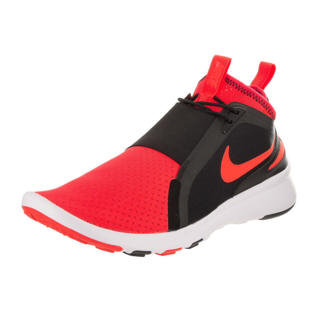 Nike Men's Current Red/Black Fabric Slip-on Casual Shoe (...