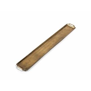 Zodax 40-Inch Long Raw Gold Aluminum Tray