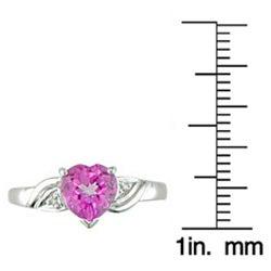 Miadora 10-kt. White Gold Diamond and Pink Topaz Ring