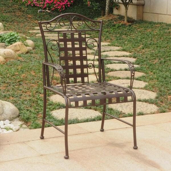 International Caravan Mandalay Iron Patio Dining Chair (Set of 2). Opens flyout.