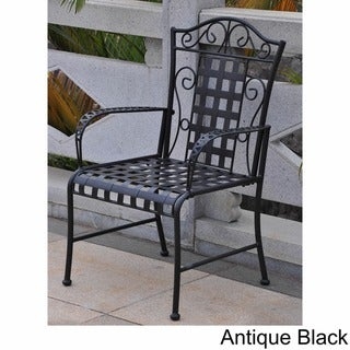 Link to International Caravan Mandalay Iron Patio Dining Chair (Set of 2) Similar Items in Patio Dining Chairs