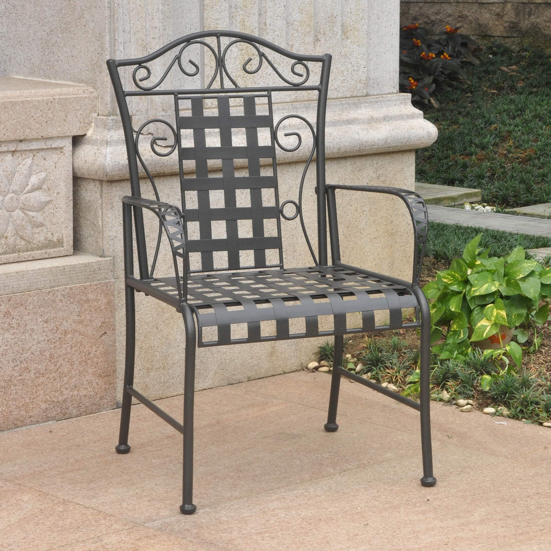 International Caravan Set Of 2 Madalay Iron Patio Chairs (Option: Antique  Black)