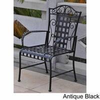 International Caravan Mandalay Iron Patio Dining Chair (Set of 2)