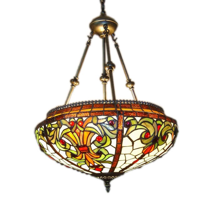 Tiffany Hanging Light Fixtures Tiffany Style Baroque Hanging Pendant Lamp Free Shipping Today