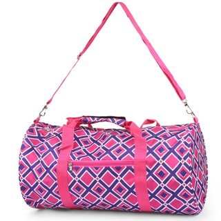 Zodaca Purple/ Pink Times Square Lightweight Classic Handbag Duffel Travel Camping Hiking Zipper Shoulder Carry Bag