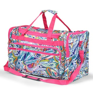 Zodaca Multicolor Paisley Large Duffel Travel Bag Overnight Weekend Handbag Camping Hiking Zipper Shoulder Carry Bag