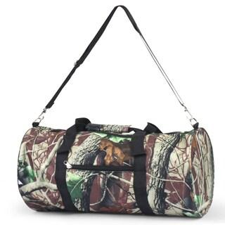 Zodaca Natural Camo Lightweight Classic Style Handbag Duffel Travel Camping Hiking Zipper Shoulder Carry Bag