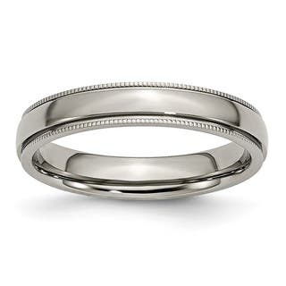 Titanium Grooved and Beaded Edge 4mm Polished Band https://ak1.ostkcdn.com/images/products/16677404/P22997293.jpg?impolicy=medium