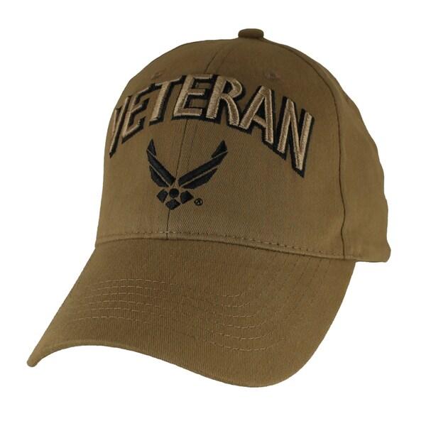 US Air Force Wings Veteran Cap Coyote Brown