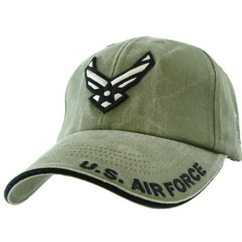 US Air Force Wings Logo Cap Green