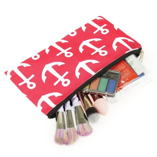 Shop Zodaca Pink Anchors With Black Trim Pencil Case