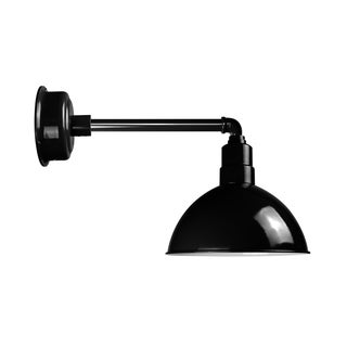 "8"" Blackspot LED Barn Light with Metropolitan Arm in Black"